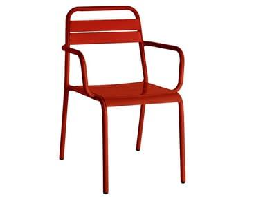 Aluminium garden chair TOPAZIO