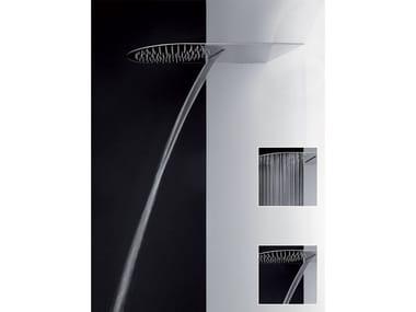 Soffione doccia a muro multifunzione ultrapiatto 33073