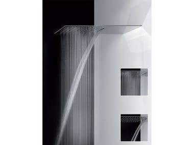 Soffione doccia a muro multifunzione ultrapiatto 33083