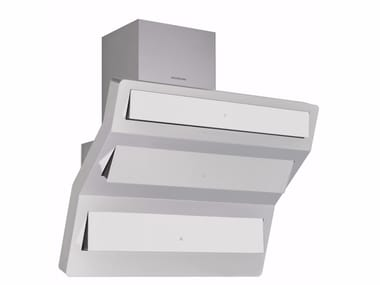 Cappa in alluminio e vetro a parete con illuminazione integrata TO THE POINT 3432