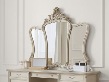 Framed wall-mounted silver leaf mirror TIMELESS 2047