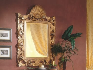 Rectangular framed wall-mounted mirror 35TH ANNIVERSARY 273