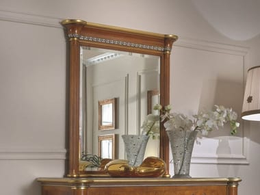 Rectangular framed wall-mounted wooden mirror 35TH ANNIVERSARY 2744