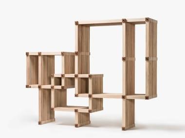 Bibliothèque ouverte composable en bois #36 | Bibliothèque composable