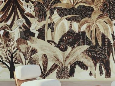 Panoramic Tropical nonwoven wallpaper 360° - BEL AMI