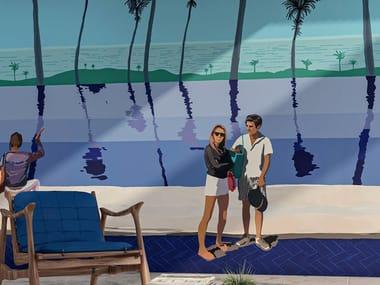 Panoramic landscape nonwoven wallpaper 360° - SIEMPRE