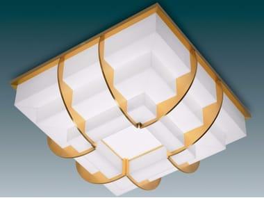 Plafoniera a luce diretta in vetro 364   Plafoniera