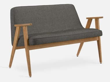 Small sofa in wood and fabric 366 LOFT | Small sofa