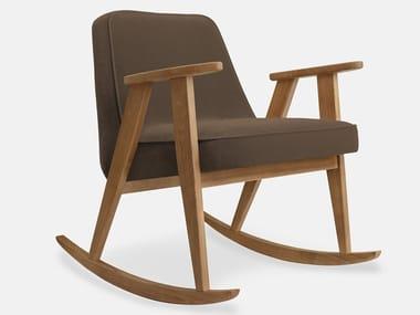 Rocking velvet easy chair 366 VELVET | Rocking easy chair