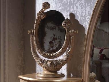 Specchio da tavolo girevole in legno con cornice 3680 | Specchio da tavolo