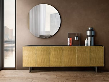 Glass sideboard with doors 36E8 XGLASS | Sideboard