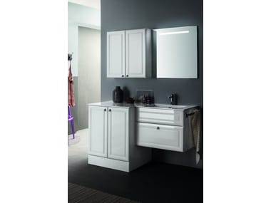 vanity unit with cabinets with mirror ab 219 by rab arredobagno - Rab Arredo Bagno