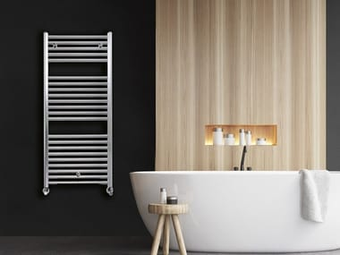 Wall-mounted aluminium towel warmer +39 ALU