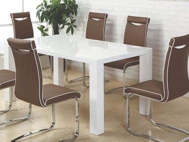 Lacquered rectangular wooden dining table 39 | Table