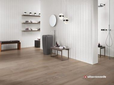Rivestimento tridimensionale in ceramica a pasta bianca 3D WALL DESIGN PLOT