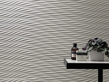 White-paste 3D Wall Cladding 3D WALL DESIGN TWIST