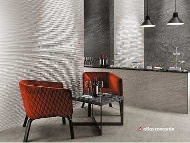 Rivestimento tridimensionale in ceramica a pasta bianca 3D WALL DESIGN ULTRABLADE