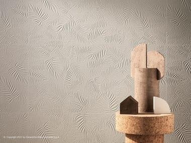 Rivestimento tridimensionale in ceramica a pasta bianca 3D WALL CARVE LEAF
