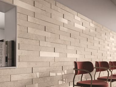 Porcelain stoneware 3D Wall Cladding with stone effect STONE CONCEPT | 3D Wall Cladding with stone effect