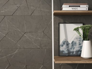 White-paste 3D Wall Tile with marble effect LONDRA | 3D Wall Tile
