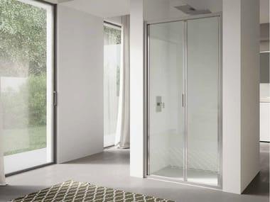 Cabina de ducha en nicho de vidrio con puertas plegables 4.0 - QTSF