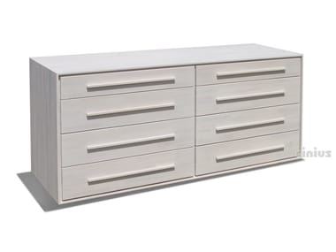 Free standing beech chest of drawers 4+4 | Chest of drawers