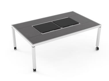 Dining table with warming module Warming Dining table