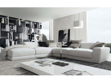 Corner sectional 4 seater leather sofa PASHÀ | Leather sofa