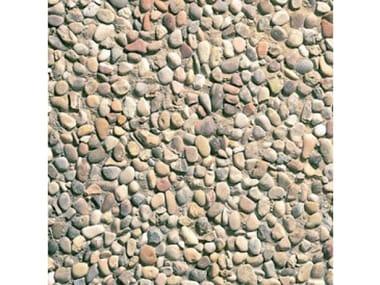 Pavimenti per esterni 40 x 40 - Ghiaia  di  fiume  grigia