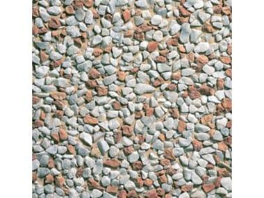 Pavimenti per esterni 40 x 40 - Lavato Carrara misto rosso