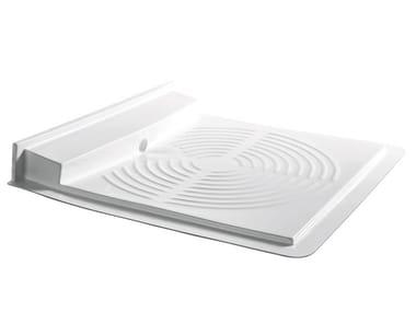 Flush fitting fiberglass shower tray 400 | Fiberglass shower tray