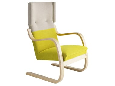 Cantilever high-back wooden armchair 401 | Armchair