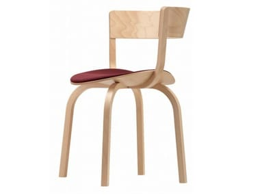 Wooden chair with armrests with integrated cushion 404 SPF