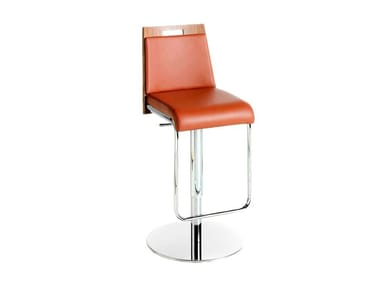 Swivel height-adjustable Imitation leather barstool 4072 | Stool