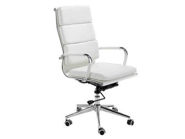 Sedia ufficio ad altezza regolabile in similpelle con braccioli 4078 | Sedia ufficio