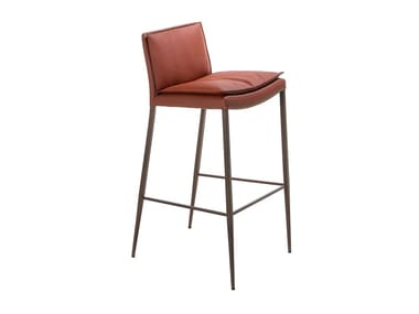 Imitation leather barstool with integrated cushion 4087