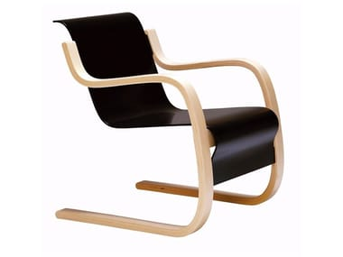 "Cantilever wooden armchair with armrests 42 ""SMALL PAIMIO"" 