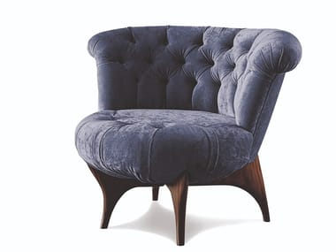Tufted fabric or leather armchair 440 VICTOR | Armchair