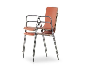 Stackable chair with armrests 45 HOSPITALITY | Chair with armrests