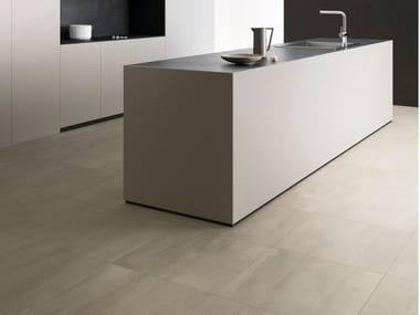 Indoor/outdoor porcelain stoneware wall/floor tiles with concrete effect with resin effect 450 F HEAT