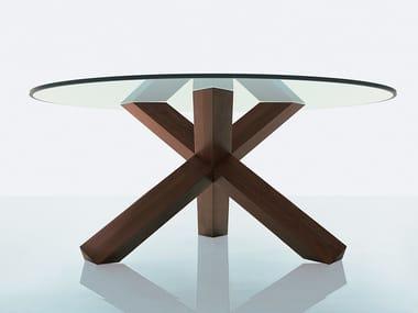 Tavolo con base in legno massello 452 LA ROTONDA