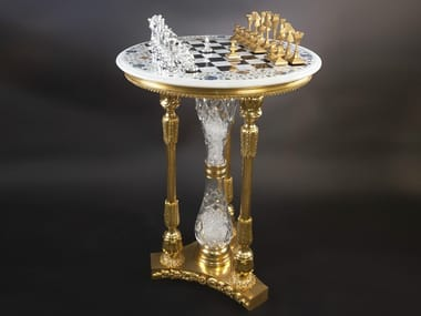 Round bronze chess table 45400 | Chess table