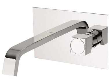 Wall-mounted brass washbasin mixer without waste 47055 | Wall-mounted washbasin mixer