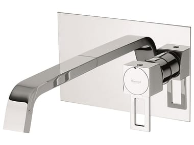 Wall-mounted brass washbasin mixer without waste 47055 | Washbasin mixer without waste