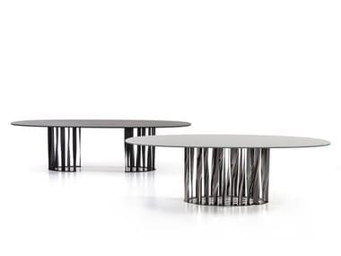 Tavolo con base in alluminio 475BOBOLI