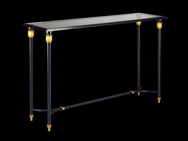 Rectangular bronze console table 48600   Console table