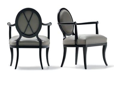 Medallion fabric armchair with armrests 49018 | Armchair