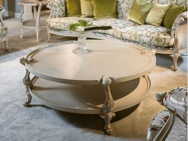 Tavolino rotondo con vano contenitore 4960 | Tavolino