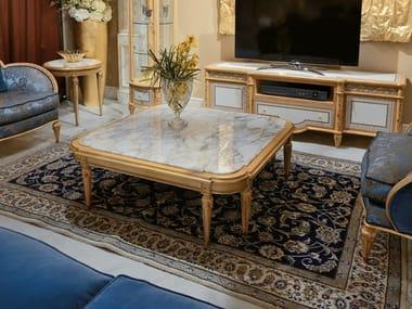 Tavolino quadrato con piano in marmo Calacatta Oro 4970   Tavolino