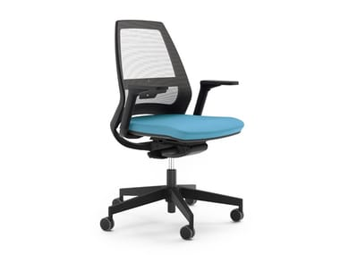 Task chair with 5-Spoke base with casters 4US
